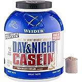 Weider Day & Night Casein Proteïnepoeder, chocoladecrème, eiwit voor spieropbouw, fitnessshake 1,8 kg
