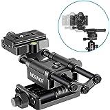 Neewer Profi 4 Wege Makro Fokussierschiene mit 1/4-Zoll-Schnellwechselplatte Kompatibel mit Canon Pentax Olympus Sony…