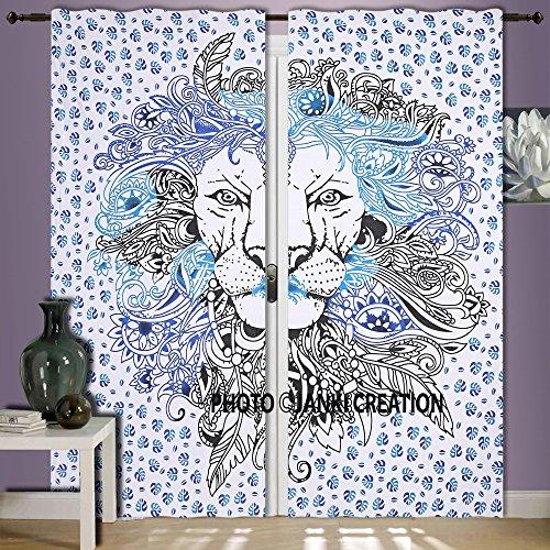 enster, Mandala Wandbehang Wand Smyrna Boho dekorativen Gardinen Fenster Vorhang Fenster Treatment Platten Set Full-Fenster Elegantes curtians, Vorhang balconyboho Set Ethnic (Tür Curtian)