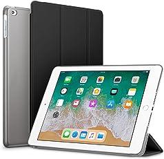 Robustrion Smart Slim Series Trifold Hard Back Flip Stand Case Cover for iPad 9.7 inch (Black)