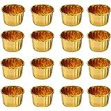 50 Pièces Moules de Cuisson en Papier d'aluminium, Caissettes Cupcakes, Moulle Mini Cupcakes, caissettes pour Cupcakes et Muf