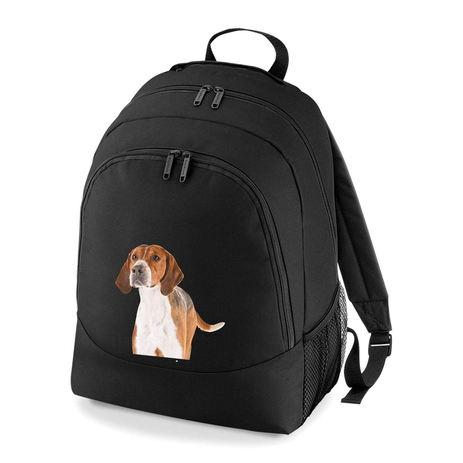 Taurus Clothing English Foxhound Dog Personalised Embroidered Rucksack Black