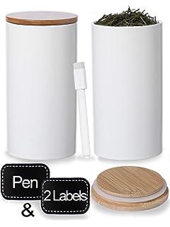 WENKO Aufbewahrungsdosen Bondy aus Bambusfasern 3-teiliges Set