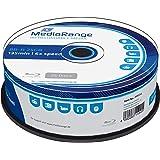 MediaRange - BLU-Ray Disc BD-r, 25 GB / 135 min, 6X, Impreso, 25 Piezas en Caja
