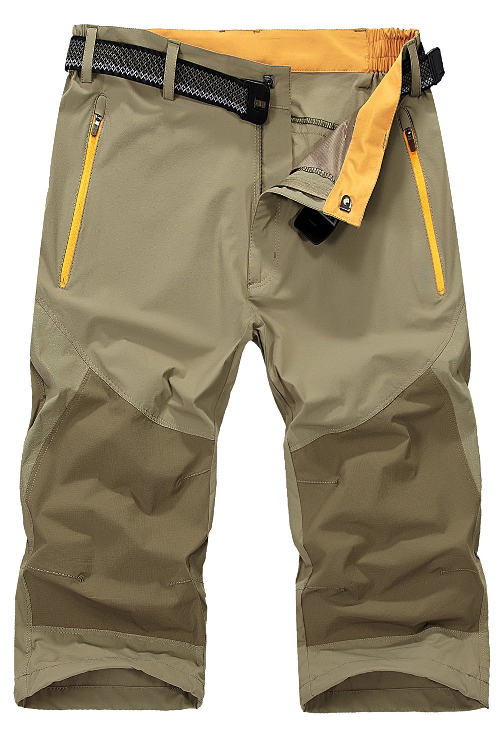71lE RRzLiL - Mr.Stream Men's Water Resistan Classic Bermuda Beach Quick Drying Cargo Shorts 3/4 Capris Walking Casual Cropped Trousers
