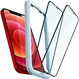 Spigen AlignMaster Vetro Temperato Compatibile con iPhone 12, iPhone 12 PRO, 2 Pezzi, Copertura Totale, Resistente ai Graffi,