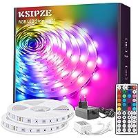 KSIPZE Ruban LED 12m RVB Changement de Couleur Flexible Avec Lumière Bande LED Lumineuse 5050 SMD avec Télécommande IR à…