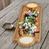 LWVAX Bamboo Tray for Serving (Wooden, 39x14 cm)