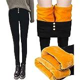 Osflydan Winter Warm Women Leggings Gold Velvet Fleece Lined Thick Leggings,Super thick Cashmere Leggings,Trousers High Waist