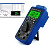 HoldPeak HP-90K Digital Multimeter CAT IV mit USB, Software, Automotive Funktionen, Beleuchtung, Voltmeter, Messkabel, Grau Blau