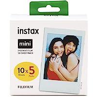 Fujifilm Instax Mini Film Pellicola Istantanea per Fotocamere Fujifilm Instax Mini, Formato 54 mm x 86 mm compreso Bordo…