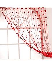 Handloomwala Beautiful Heart String Sheer Curtain