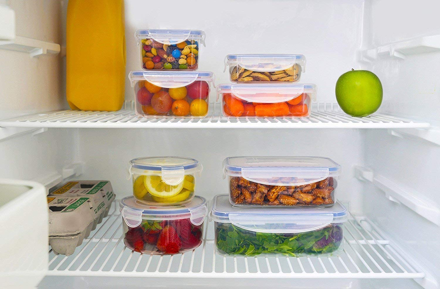 Piesome Airtight Food Storage Containers Plastic Kitchen ...