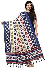 Kanchnar Women's Bhagalpuri Silk Geometric Print Dupatta