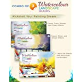 Watercolour Landscape Painting Book for Artists | Qualtiy Watercolor Paper | Step by Step Guide | Set of 3 Landscape Drawing
