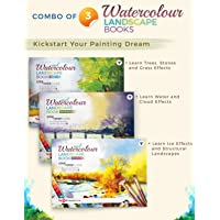 Set of 3 Landscape Painting Books with Step By Step Guide to Practice Landscape Watercolor Painting | Landscape Scenery…