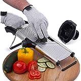 Tasty Health Mandoline Coupe Légumes Facile à Nettoyer – Robuste – Qualité Professionnelle – Offert : Gant Anti-Coupure – Man