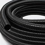 "5m vijverslang 25mm (1"") - zeer flexibel zwart UV-bestendig"