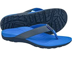 Everhealth Men's Sandals Orthotic Arch Support Flip Flops Thongs for Plantar Fasciitis, Flat Feet & Heel Spurs, Comfort Toe P