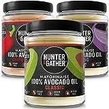Hunter & Gather Maionese con Olio di Avocado, Senza Zucchero e Glutine, Paleo e Chetogenica - Assortimento Vario - 1 x Classi
