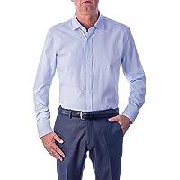 1st American Elegante Camicia Manica Lunga da Uomo 100% Cotone Silk Touch Regular Fit Collo all'Italiana - No Stiro TG…