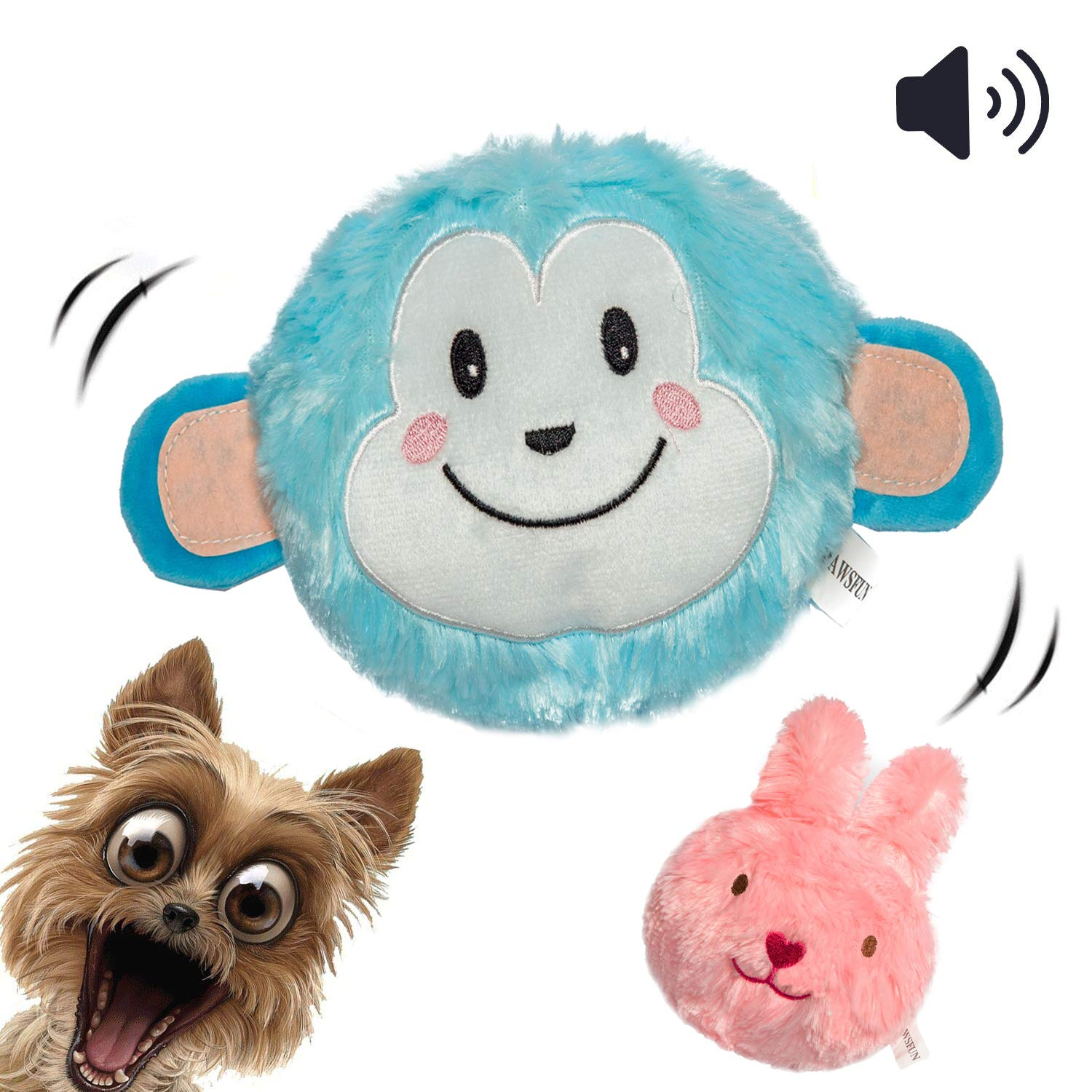 Green Plush Animal Interactive Chew Toy for Puppy Small Medium Dogs Teething Cleaning HEEPDD Squeaky Plush Dog Toys