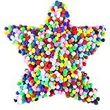 Gifort Pompons, Pompones de Colores, Pompones de Pompon, Pelotas de Peluche mullidas para Divertidas Manualidades Creativas.