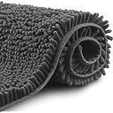 FCSDETAIL Alfombras de Baño de Pelo Largo Antideslizantes 60X90 cm, Tapete para el Piso Lavable a Máquina con Microfibra de C
