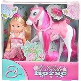 Simba 105732833 - Evi Love Puppe als Prinzessin mit Pferd
