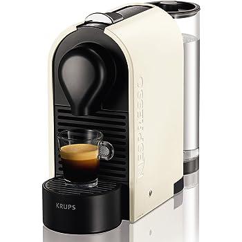 Nespresso XN 2501 U Pure Cream Krups U-Cafetera con cápsulas, Color Perla, 1260 W, Blanco