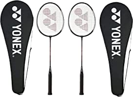 Yonex GR 303 Aluminum Blend Badminton Racquet with Full Cover, Set of 2 (Black)