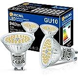 PRCNL Lampes GU10 LED blanc chaud, source lumineuse 8.5W, 940 lumen, 2700 Kelvin, AC220-240V, blanc chaud Remplace les lampes