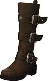Ladies Harley Davidson Casual Buckle Detail Outer Zip Ankle Boot Inkwood