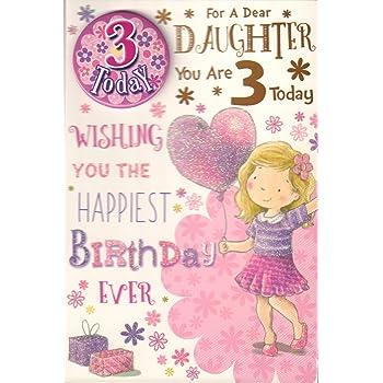Hallmark 3rd Birthday Card For Daughter With Stickers Medium