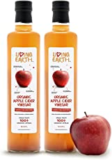 Living Earth Bio Apfelessig, 2er Pack (2 x 500 ml)