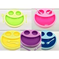 Smiley Face Plates for Kids - Mac Doodle - Set of 2