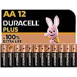 Duracell NEW Plus AA Alkaline Batteries [Pack of 12], 1,5V LR6 MN1500