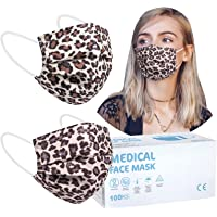 Rousig Maske Einwegmasken 50 stück für Erwachsene, CE Zertifiziert, Bunt Mundschutz, 3 lagig Mund Nasen Schutzmaske…