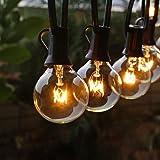 Guirlande Guinguette Extérieure et Intérieure, FOCHEA 11M Guirlande Lumineuse Raccordable Ultra-longue avec 30 Ampoules et 5