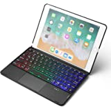 Étui Clavier pour iPad 2018 (6ème génération) / 2017 (5ème génération) / Pro 9.7 / Air 2 & 1 - Étui en Aluminium pour Clavier