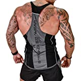 Harri me Men's Muscle Gym Fitness Y Back Stringer Bodybuilding Workout Sleeveless Vest