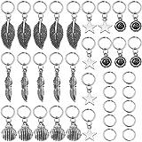 Lurrose 35 Piezas Anillos de Trenza de Pelo Rastas de Metal Cuentas de Cabello Decoración Trenzado Joyería de Cabello para Mu
