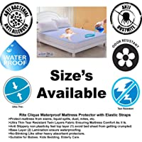 Rite Clique 72x78 Inch OR 6x6.5 Feet King Size Hypoalergenic Waterproof Mattress Protector, Mattress Cover, Bed Spread with Elastic Straps