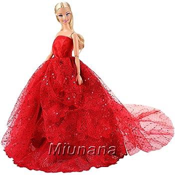 Miunana sera vestito lungo di lusso per cenerentola - Barbie senza colore ...