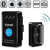 OBD2 Bluetooth 4.0 Kimood Nueva Versión Auto Diagnostico de Coche OBD2 Diagnosticos, Mini adaptador inalámbrico OBD2 Bluetoot