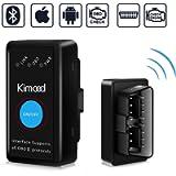 OBD2 Bluetooth 4.0, Kimood Nuova Versione Diagnosi per Auto, Mini Adattatore Wireless Codice Errore di Scansione per…