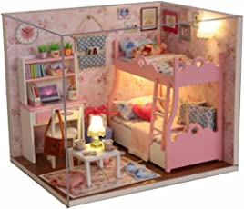 Doll House - Cute-Room Miniature DIY House Kit Creative Room with Furniture and Accessories - Perfect Creative DIY Gift for Romantic Artwork Gift (Mood for Love Series) by Shuban
