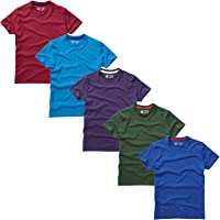 Charles Wilson 5 Pack Plain Crew Neck T-Shirt