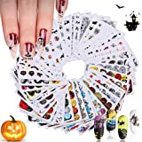 Kalolary 48 stks Halloween Nail Stickers Set Girl Nail Art Water Transfer Decals Tattoos Sliders Manicure voor Art Design voo