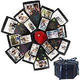 HebyTinco - Album Fotografico Pieghevole Fai da Te con Sorpresa Creativa Fai da Te, per Compleanno, Anniversario, San Valenti